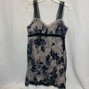LOFT Watercolor midi dress